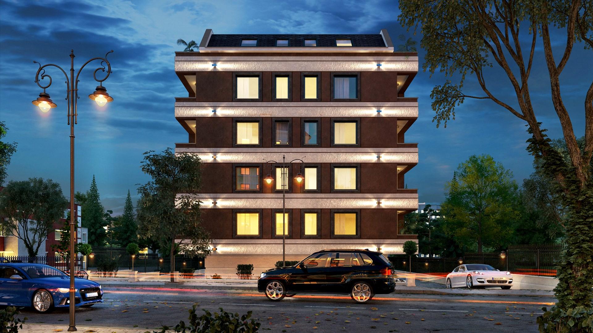 """Нощна визуализация на жилищна сграда """"VITOSHA SPRING"""""""