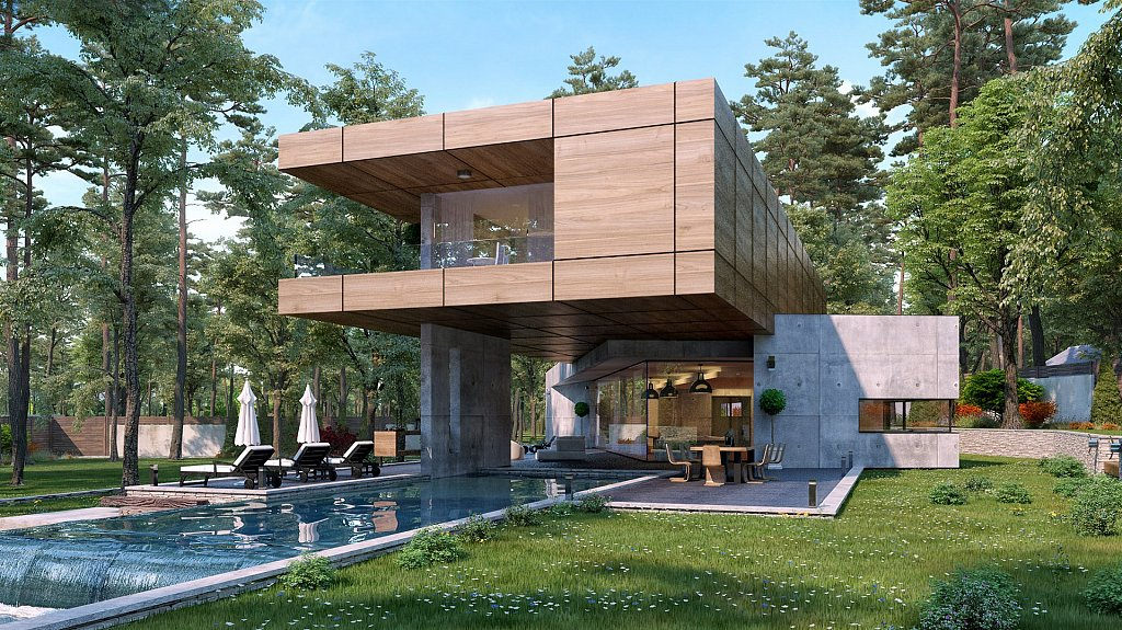 House In Minimalist Style